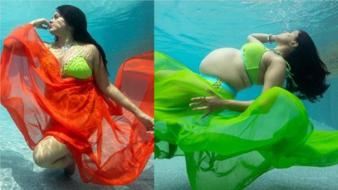 Sameera Reddy pregnant photoshoot