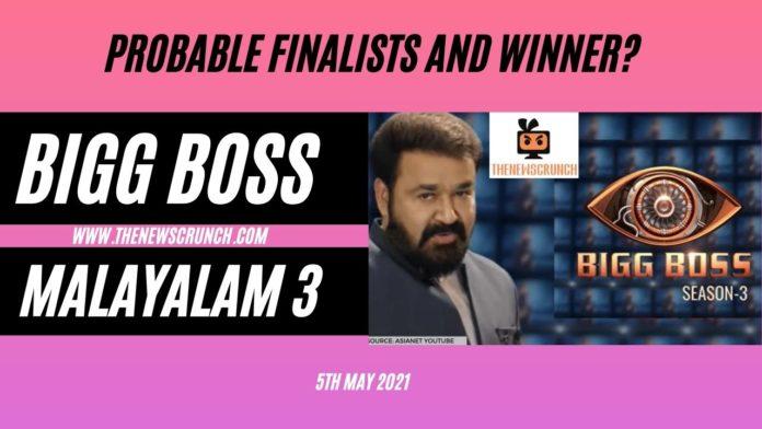 bigg boss malayalam 3 finalists and winner