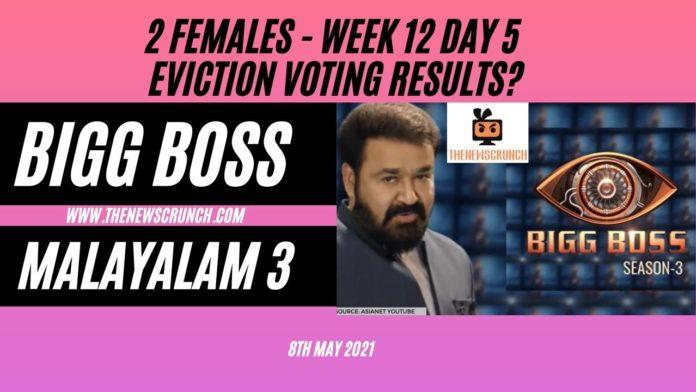 bigg boss malayalam 3 week 12 eviction
