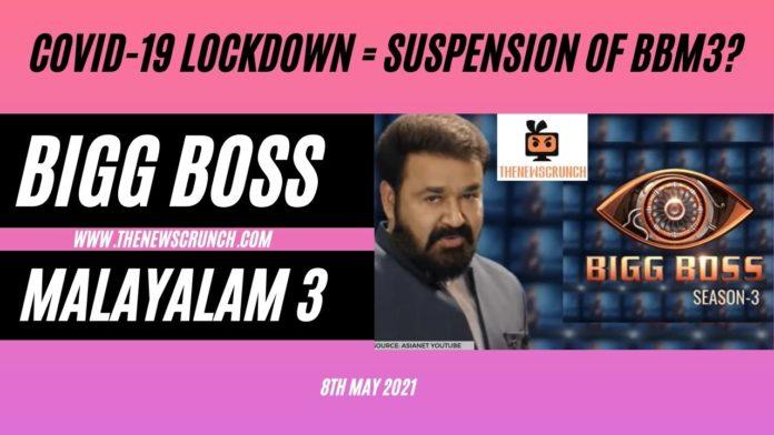 bigg boss malayalam 3 suspended