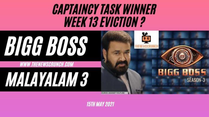 bigg boss malayalam 3 week 13 eviction