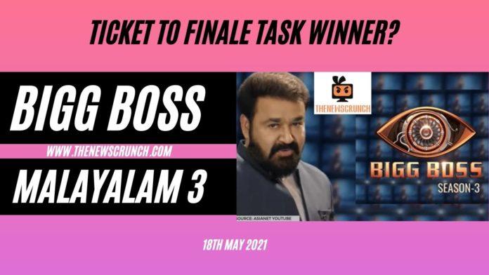 bigg boss Malayalam 3 ticket to finale winner