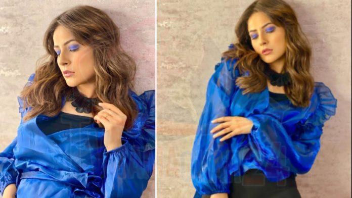 Shehnaaz Gill blue dress