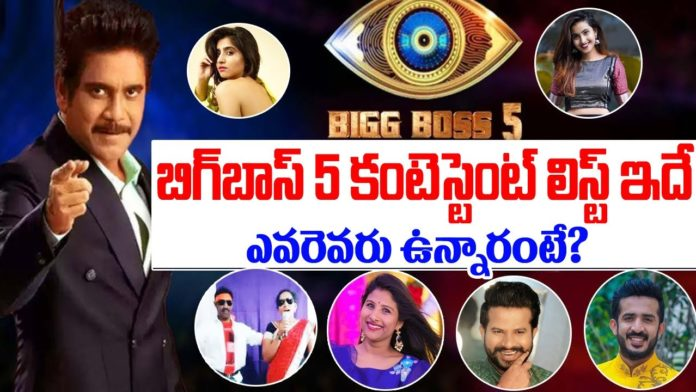 bigg boss telugu 5 contestants list