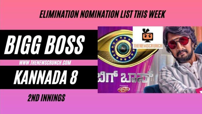 bigg boss kannada 8 nominations list eviction this week