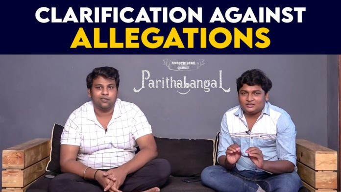 Parithabangal Scam clarifications