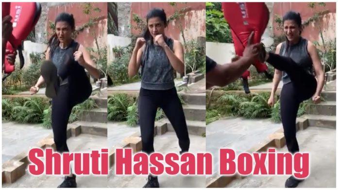 Shruti Haasan boxing