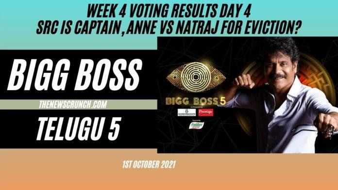 bigg boss 5 telugu voting results 1st october elimination