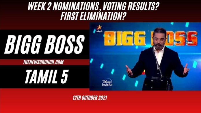 bigg boss tamil 5 voting results 12th october