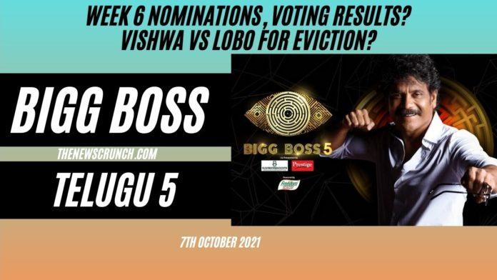 bigg boss 5 telugu vote results 12th october